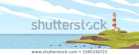 lighthouse on a cliff Stock photo © tracer