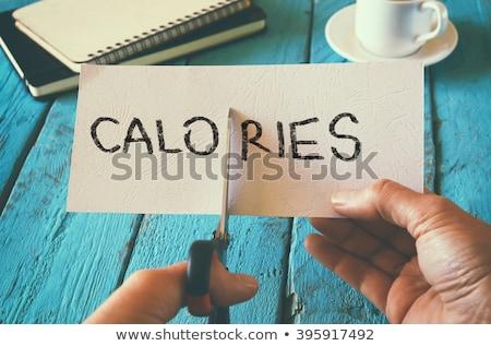 Calorías par tijeras grupo graso Foto stock © Lightsource