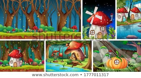 Gnome foresta illustrazione uomo legno giardino Foto d'archivio © adrenalina