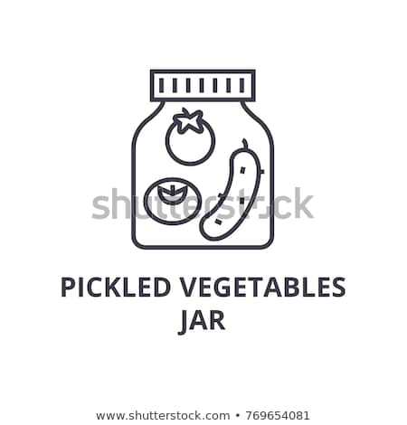 Canned cucumbers icon Stock photo © angelp