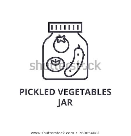 jar · illustratie · voedsel · natuur · vruchten - stockfoto © angelp