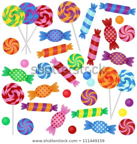 Rainbow Peppermint Christmas Candy Stock photo © dvarg