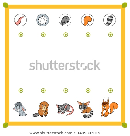 Game template with matching rabbit Stock photo © bluering