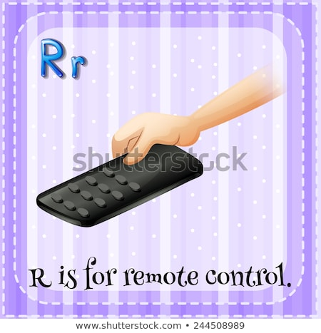Flashcard letter R is for remote Stock photo © bluering