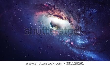 сцена · планеты · галактики · иллюстрация · пейзаж · фон - Сток-фото © bluering