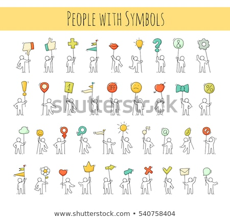 hands holding tablet with heart sign sketch icon stock photo © rastudio