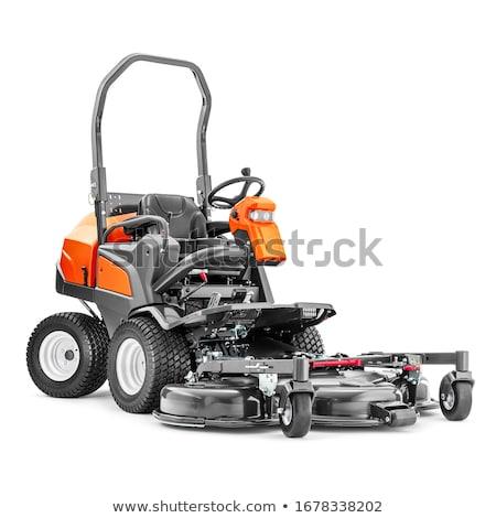 modern petrol powered rotary push grass lawn mower stock photo © stevanovicigor