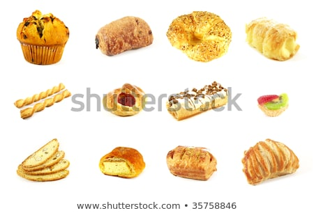 Stockfoto: Appel · vla · zoete · brood · vulling