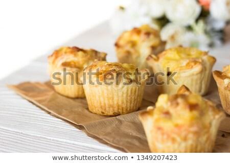 Prei kaas gesneden groene witte Stockfoto © simply