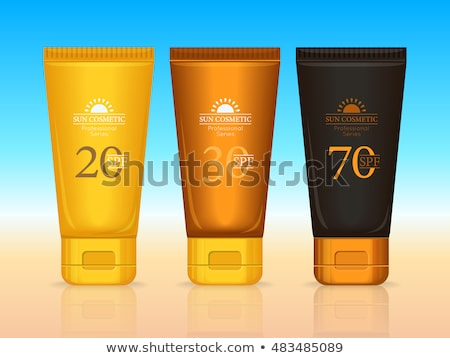 Słońce kosmetyki zawodowych opalenizna krem 30 Zdjęcia stock © robuart