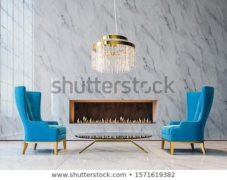 Luksusowe szkła żyrandol świetle tle lampy Zdjęcia stock © bubutu