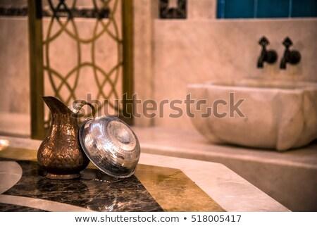 Török fürdőkád illusztráció egészség pihen márvány Stock fotó © adrenalina