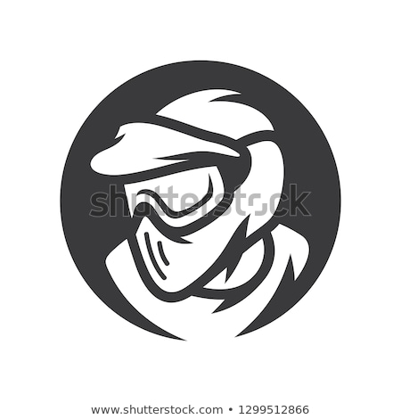 Paintball logo emblema militar extrema deportes Foto stock © popaukropa
