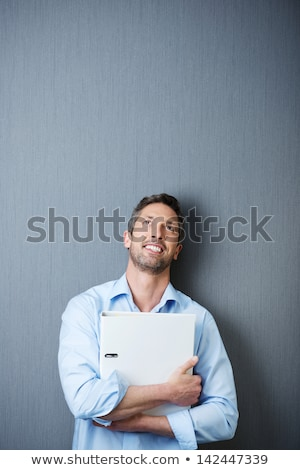 Serious thoughtful mature businessman Stock photo © ozgur