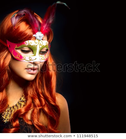 woman at the masked ball Stock photo © adrenalina