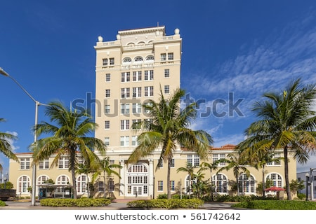 Klasszikus Miami tengerpart város előcsarnok art deco Stock fotó © meinzahn