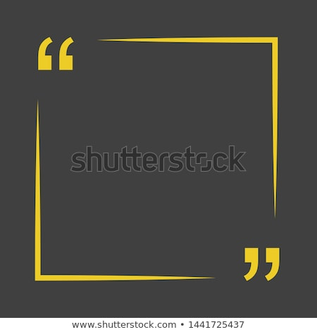 quotation mark textbox with space for your text Stock photo © SArts