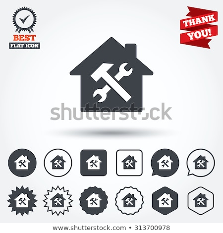 Photo stock: Maison · services · symbole · résidentiel · soins
