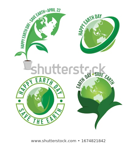 Earth day badget - Save the planet stock photo © day908