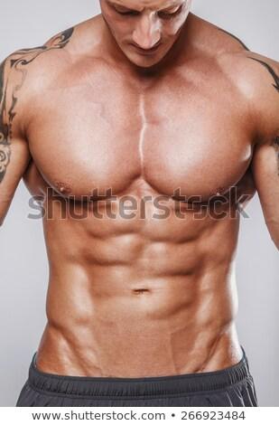 男性 胴 アスレチック 男 胸 腹部 ストックフォト © popaukropa