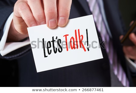 businessman with psychologist consultation of psychotherapist stock photo © popaukropa