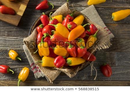 Zoete peper geïsoleerd witte eten afbeelding Stockfoto © All32