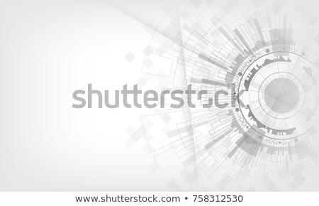 Kék fényes technikai vektor háromszög formák Stock fotó © fresh_5265954