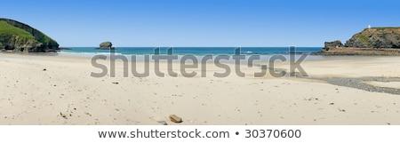 Panorámakép kilátás tengerpart vízpart falu western Stock fotó © latent