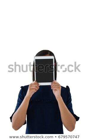 Homme exécutif cacher visage derrière numérique Photo stock © wavebreak_media