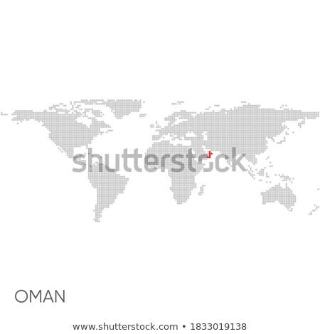 Oman in red on Earth Stock photo © Harlekino