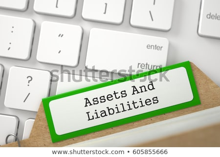 card index with inscription financial assets 3d stock photo © tashatuvango