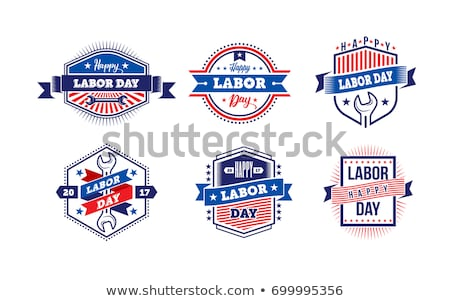 vector blue banner with hand tools stock photo © dashadima