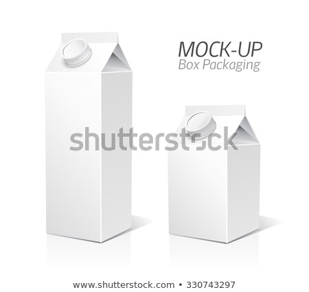 Juice Package Vector Realistic Mock Up Template. Carton Branding Box 200 ml. White Empty Clean Cardb Stock photo © pikepicture