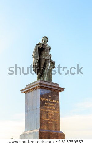 Statue of Konung Gustaf III in Stockholm, Sweden. Stock photo © vladacanon