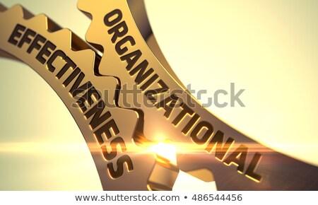 Organizational Effectiveness on Golden Gears. 3D. Stock photo © tashatuvango