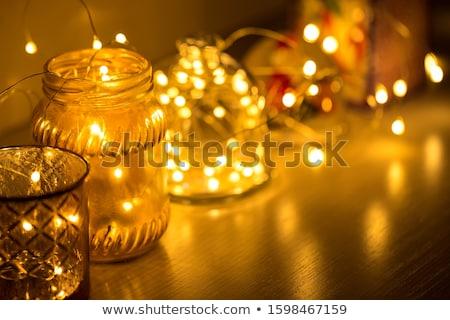 Hó földgömb karácsony mágikus labda citromsárga Stock fotó © Iaroslava