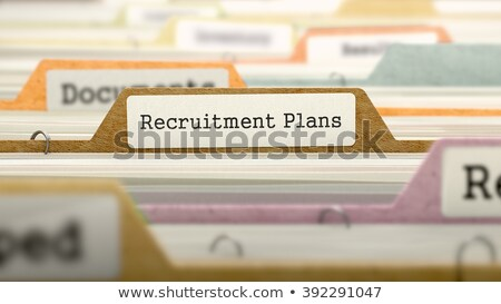 Recruitment Plans Concept. Folders in Catalog. Stock photo © tashatuvango