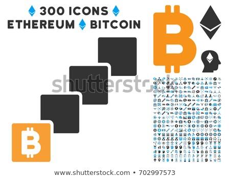 Ethereum Net Links Vector Icon Set Stock photo © ahasoft