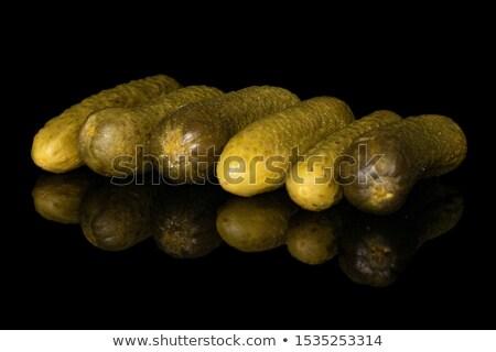 шесть маринованный изолированный белый фон зеленый Сток-фото © digitalr