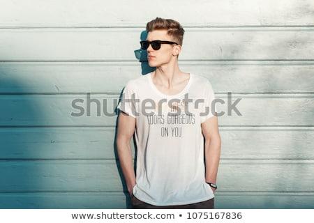 моде стиль человека профиль борода Сток-фото © frescomovie