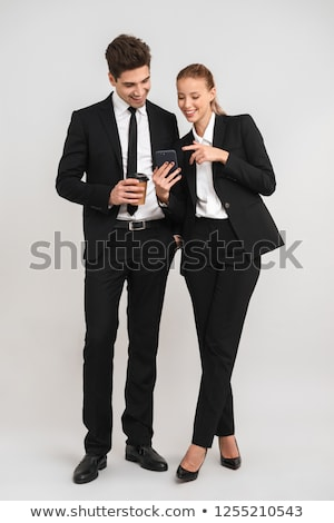 Woman and man talking over drinks Stock photo © IS2