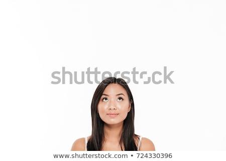 красивой · лице · молодые · азиатских · женщину · большой - Сток-фото © deandrobot
