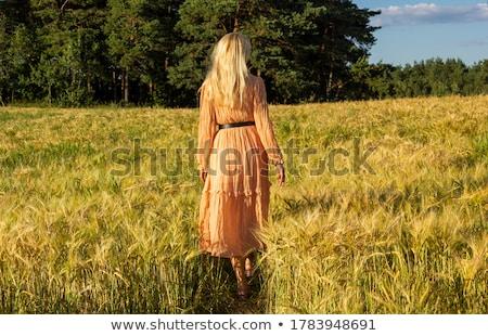 Постоянный трава женщину природы цвета Сток-фото © IS2