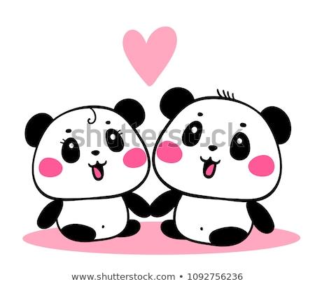 Miłości ilustracja para małżeństwa zwierząt uroczystości Zdjęcia stock © adrenalina
