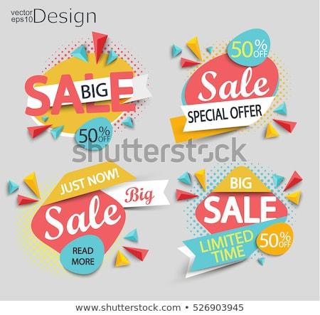 Sunburst Sale Banner Stock photo © barbaliss
