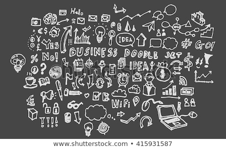 hand drawn analysis information on office chalkboard stock photo © tashatuvango