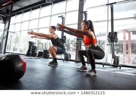 Musculação fitness músculo saldo uma pessoa Foto stock © IS2