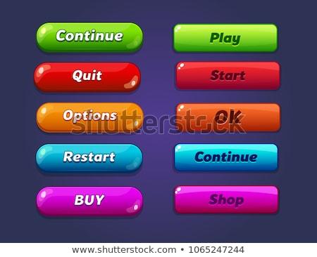 Blauw spel interface cartoon stijl spelen Stockfoto © studioworkstock