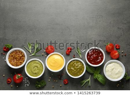 assorted sauce and ingredient stock photo © m-studio