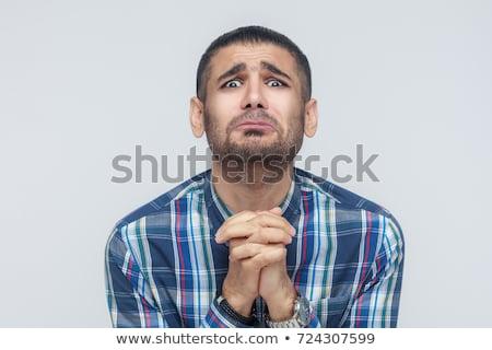 Homem dedos isolado branco mão fundo Foto stock © hsfelix